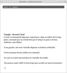 La saveur du moi: Méandres - Fragments interactifs