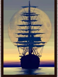 Ship sailing into the sunset, this is my thigh tattoo I will be getting.