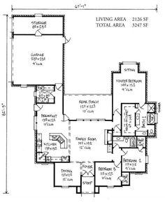 house plan 2776 square feet 4 bedroom 3 bath, louisiana home