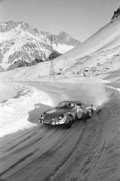 1971 Ronde hivernale de Chamonix Alpine Renault A110 1600 of JeanClaude ANDRUET