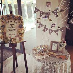 ★ ウェルカムスペース ・ 受付横にウェルカムボード&ツリー を置きました♡ ・ みなさんおなじみの可愛い方に 描いてもらった似顔絵と、 いただいたバーンスターはこちらに♡ ・ みんないっぱい写真撮ってくれてて 嬉しい ・ #卒花 #卒花嫁 #プレ花嫁 #プレ花嫁卒業 #結婚式 #wedding #ウェディング #ウェルカムスペース #ウェルカムツリー #ウェルカムボード #ドライフラワー #マーキーライト #星 #刺繍 #バーンスター #ハンドメイド #DIY #ウェディングDIY Space Wedding, Wedding Paper, Diy Wedding, Wedding Day, Wedding Tips, Wedding Table Flowers, Wedding Decorations, Wedding Stationery, Wedding Invitations