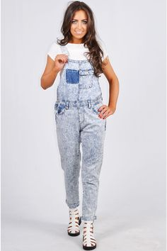 Pop Couture - Syon Acid Wash Dungaree, $39.05 (http://www.popcouture.co.uk/clothing/playsuits-jumpsuits/dungarees/syon-acid-wash-dungaree/)