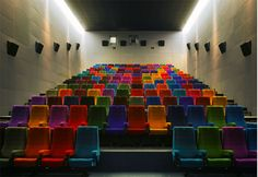 The Lighthouse Cinema, Dublin, Ireland. Who said movie theater seats have to be red? #cinema #theatre #movie