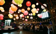 the first inspiration board for my wedding day - a colorful rustic outdoor event Paper Lantern Lights, Paper Lanterns, Lantern Lighting, String Lighting, Paper Lamps, Dream Wedding, Wedding Day, Wedding Paper, Wedding Bride