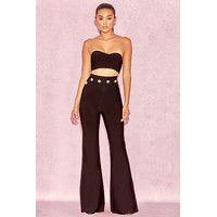 ac7f5362b92d  Bardot  Black High Waist Bandage Trousers Φθινοπωρινά Ρούχα