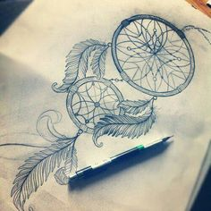 beautiful sketch of a dreamcatcher