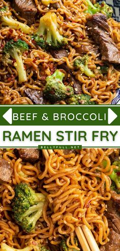 Love the traditional beef and broccoli stir fry? Then you have to try this Asian-inspired recipe with ramen noodles! In just 30 minutes, you can have a complete meal all in one skillet. Super easy and so delicious! Enjoy this main dish for a Sunday dinner idea! Ground Beef And Broccoli, Broccoli Recipes, Beef Broccoli Stir Fry, Easy Sunday Dinner, Sunday Dinner Recipes, Dinner Ideas, Noddle Recipes, Beef Lo Mein Recipe, Asian Pasta Salads