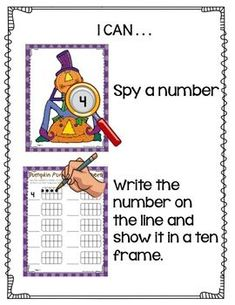 Pumpkin Fun I-Spy Numbers-Differentiated and Aligned2 Differentiated Kindergarten, Kindergarten Teachers, Kindergarten Activities, Stem Activities, List Of Skills, Math Manipulatives, Fun Math Games, File Size, I Spy