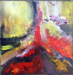 Abstract acrylic painting by Stefanie Seiler