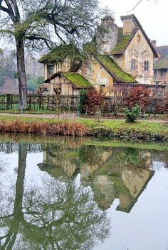 Hameau de la Reine (The Queen's Hamlet) in the park of the Château de Versailles, built for Marie Antoinette in 1783 near the Petit Trianon in the Yvelines, France. As a kid, always my favorite part of visiting Versailles! Places Around The World, Oh The Places You'll Go, Places To Travel, Around The Worlds, Beautiful World, Beautiful Homes, Beautiful Places, Beautiful Dream, Marie Antoinette