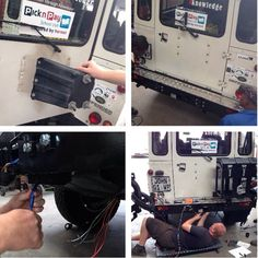 Fitting the #OutbackExtreme Rear Bumper Wheel Carrier to the @landrover #Defender ..... #CelebratingDefender