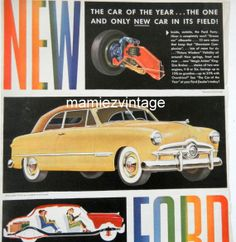 Retro Ford Forty Niner Car Magazine Ad/ Vintage by mamiezvintage, $9.95
