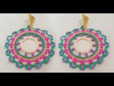 Seed Bead Earrings, Seed Beads, Crochet Earrings, Beaded Embroidery, Embroidery Designs, Brick Stitch, Chandelier Earrings, Beaded Jewelry, Jewerly