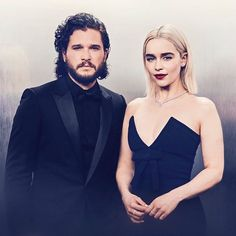 ROYALTY #GameOfThrones #GoldenGlobes #DaenerysTargaryen #EmiliaClarke #JonSnow #KitHarington