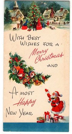 3849 best vintage greetings christmas images on pinterest in 2018 vintage christmas happy new year best wishes greeting card ebay m4hsunfo