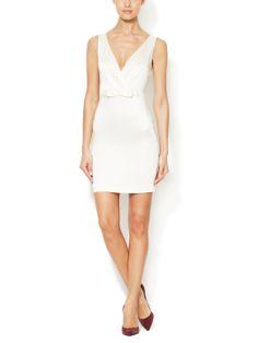 Bow V-Neck Sheath Dress by Love Moschino at Gilt