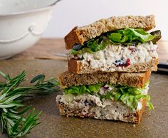 light cranberry pecan chicken salad