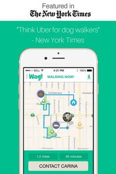 The dog walking app. walk FREE with code wagwalks Wag Dog Walking, Walking App, Wag App, Nanny Dog, Dog Information, Diy Dog Treats, Pet Dogs, Pets, Change Maker