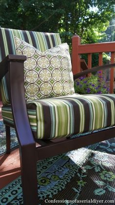 1000 images about Outdoor cushion recovering on Pinterest