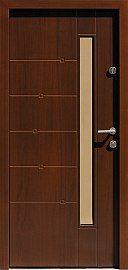 Drzwi zewnętrzne nowoczesne model 469,2 w kolorze orzech