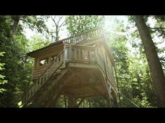 Rent a Treehouse at Mont-Tremblant, Quebéc with Refuges Perchés. 4 season, treehouse getaway in a protected regional parc, on the shores of a pristine lake. Refuge, Quebec, Gazebo, Rives, Canada, Outdoor Structures, Cabin, Adventure, Treehouse
