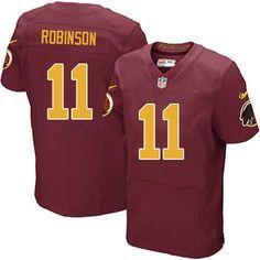 Men Nike Washington Redskins #11 Aldrick Robinson Elite Burgundy Red Number Alternate 80TH Anniversary NFL Jersey Sale