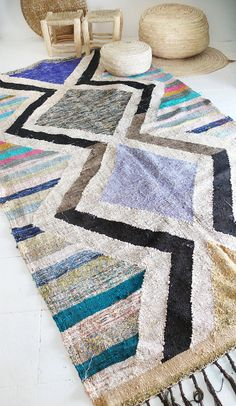 Vintage Moroccan Kilim  BOUCHEROUITE Rug  zigzag