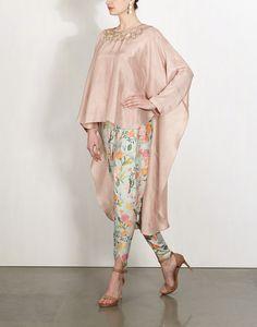 Star Mirror Cape with Petal Dhoti-Payal Singhal- Kaftan Designs, Blouse Designs, Muslim Fashion, Asian Fashion, Hijab Fashion, Fashion Outfits, Dress Fashion, Indian Attire, Indian Wear