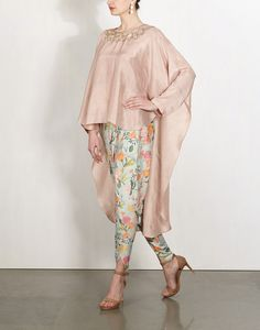 Star Mirror Cape with Petal Dhoti