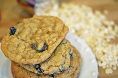 Oatmeal Raisin Cookies.  Chewy oatmeal raisin cookie