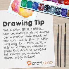 #drawingtip: Take a break before finishing your drawing... ✍️ #arttips #craftamo