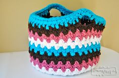 My Merry Messy Life: Crochet Chunky Seed Stitch Basket