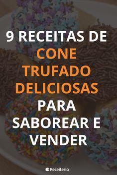 9 receitas de cone trufado deliciosas para saborear e vender Pizza Cones, Canapes, Sweet Girls, Coffee Shop, Food And Drink, Beef, Recipies, Meals, Healthy