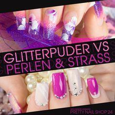#glitter   #strass   #pearls   #nails   #nailart   Glitterpuder, Strass & Perlen machen jedes Naildesign zu etwas ganz Besonderem. Womit arbeitet Ihr am liebsten, was gefällt Euren Kunden? Wir sind gespannt! Martina