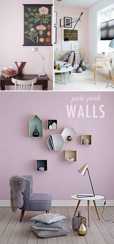 Trend to try: pale pink walls