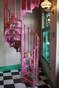 pink stair:)