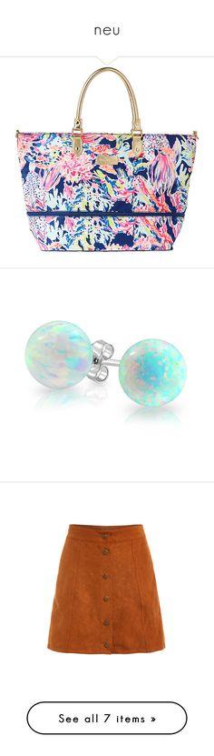 """neu"" by yolanda-nevia ❤ liked on Polyvore featuring bags, luggage, jewelry, earrings, jewelry/ piercings, white, opal jewelry, birthstone stud earrings, white stud earrings and opal stud earrings"