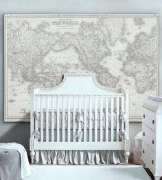 I am imagining a baby room with planes and maps Nursery Room Decor, Map Nursery, Travel Nursery, Girl Nursery, Nursery Ideas, Baby Boy Nurseries, Baby Boy Rooms, Baby Room, Kids Rooms