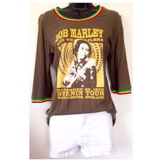 Bob Marley Shirt Color is like an olive green. Tag says XL, but I'd say it could fit S-L. A smaller person would wear loose, as seen on my mannequin. And would be a little more fitted for a size M/L. Still cute either way. Worn just a hand full of times. Still in great condition! If you have any questions, please let me know. Absolutely no trades or non posh transactions!!!! SELLER DISCOUNT: 30% off 4 or more. Thanks for stopping by! Tops Tees - Long Sleeve