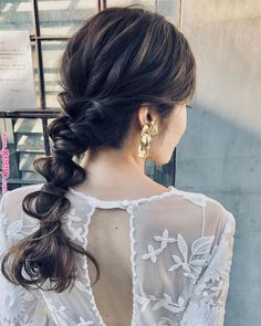 ぶっきらぼうに持つブーケー « Geerp I Like Your Hair, Bridal Hairdo, Hair Arrange, Hair Setting, Different Hairstyles, Dream Hair, Bride Hairstyles, Bridal Makeup, Beautiful Bride