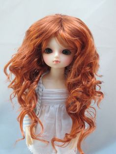 Monique ZOEY Wig Carrot Red color Size 6-7 YoSD Dollfie on Volks YoSd in Dolls & Bears, Dolls, By Brand, Company, Character | eBay