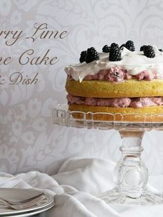Blackberry Lime Sunshine Cake} Sunshine Cake, Layer Cake Recipes, Blackberry, Lime, Dishes, Dining, Desserts, Sun Cake, Tailgate Desserts