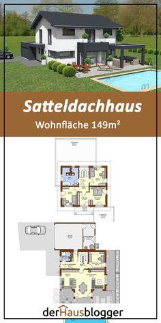 Satteldachhaus in 2020 Education Architecture, School Architecture, Architecture Design, Arnold House, Villas, Living Haus, Alternate Exterior, Mechanical Room, Modern Tiny House