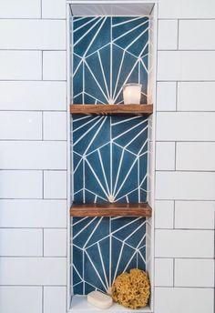 Radar hexagon hex concrete cement tile - Home - Asian Bathroom Inspiration, Bathroom Decor, Bathroom Remodel Master, Shower Niche, Remodel, Tile Bathroom, Tile Design, Hexagon Tiles, Modern Tiles