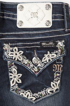 Botanical Border Boot Cut Miss Me Jeans