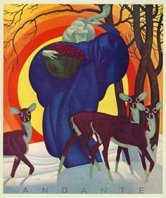 Art Deco Era illustration by master illustrator William P Welsh.
