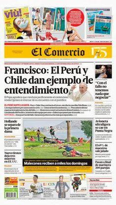 ¡Buenos días! el #PapaFrancisco habla sobre #Perú, #Chile y #LaHaya en #nuestraportada de hoy