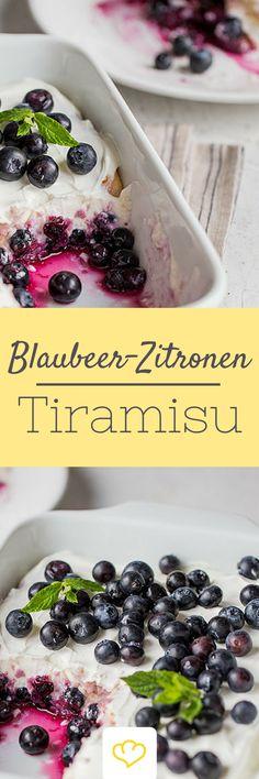 Tiramisu geht eigentlich immer, oder? Vor allem in dieser extrafrischen Sommer-Variante mit süßen Blaubeeren und cremigem, kühlem Joghurt. Probier es gleich aus, das Blaubeer-Zitronen-Tiramisu!