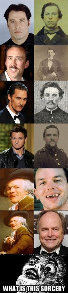Reincarnation? Real photos of look alikes.