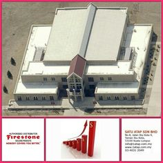 """The commercial building masterpiece with Firestone UltraPly TPO roof membrane.  Every """"Masterpiece"""" marks the attainment of its age and endures as profit, reputation & prosperity. Your investment in Firestone roofing system bringing you faster to your aim.   Firestone endures profit, reputation & prosperity for loong time."""